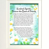 """Kindred Spirits… Forever the Best of Friends – (Kukana) 8 x 10 Matted """"Gifty"""" Art Print"""