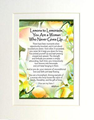 Lemons to Lemonade - Matted Art Print