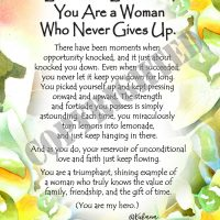 "Lemons to Lemonade, You Are a Woman Who Never Gives Up. – (Kukana) 8 x 10 Matted ""Gifty"" Art Print"