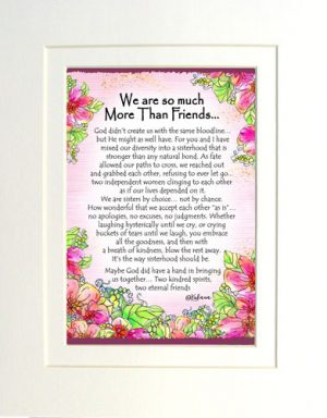 More Than Friends - Matted Art Print