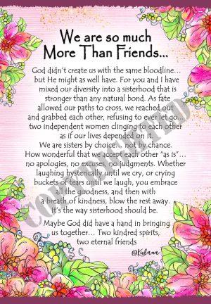 More Than Friends - Art Print