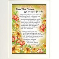 "More Than Sisters, We are Also Friends – (Kukana) 8 x 10 Matted ""Gifty"" Art Print"