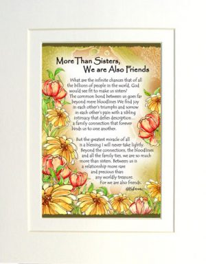 More Than Sisters - Matted Art Print