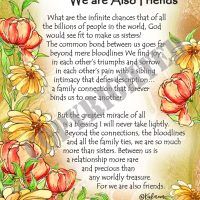 """More Than Sisters, We are Also Friends – (Kukana) 8 x 10 Matted """"Gifty"""" Art Print"""