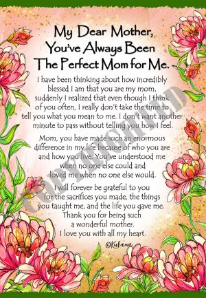 Perfect Mom for ME - Art Print