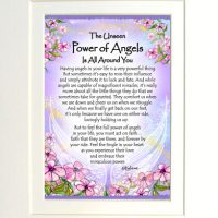 """The Unseen Power of Angels Is All Around You – (Kukana) 8 x 10 Matted """"Gifty"""" Art Print"""
