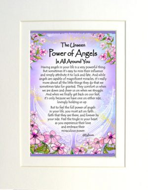 Power of Angels - Matted Art Print