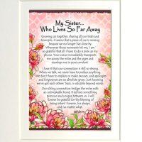 "My Sister… Who Lives So Far Away – (Kukana) 8 x 10 Matted ""Gifty"" Art Print"