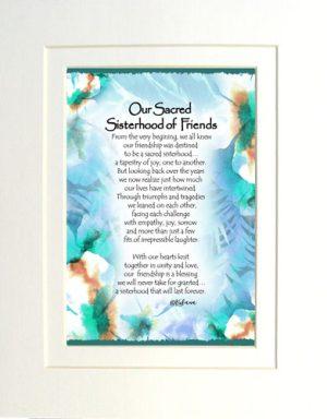 Sisterhood of Friends - Matted Art Print