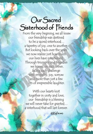 Sisterhood of Friends - Art Print