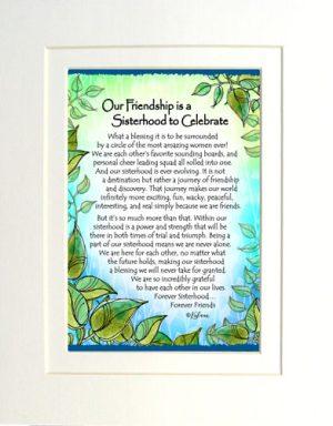 Sacred Sisterhood - Matted Art Print