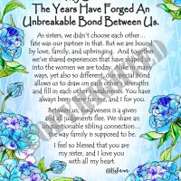 """My Sister… The Years Have Forged An Unbreakable Bond Between Us. – (Kukana) 8 x 10 Matted """"Gifty"""" Art Print"""