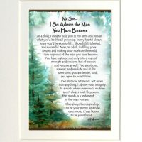 """My Son… I So Admire the Man You Have Become – (Kukana) 8 x 10 Matted """"Gifty"""" Art Print"""
