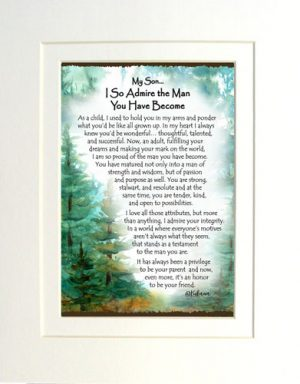 Son Admiration - Matted Art Print