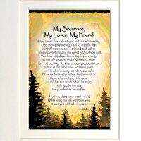 "My Soulmate, My Lover, My Friend. – (Kukana) 8 x 10 Matted ""Gifty"" Art Print"