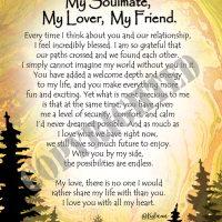 "My Soulmate, My Lover, My Friend. – (Kukana) 8 x 10 Matted ""Gifty"" Art Print"