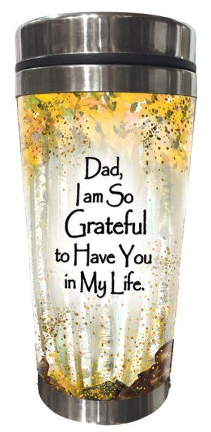 So Grateful, DAD (Kukana) Stainless Steel Tumbler - FRONT