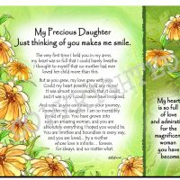My Precious Daughter  Just Thinking of you makes me smile. – (Kukana) Snack Mat/Mouse Pad