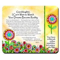 Granddaughter, I Can't Wait to Watch Your Dreams Become Reality – (Kukana) Snack Mat/Mouse Pad