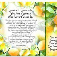 Lemons to Lemonade, You Are a Woman Who Never Gives Up. – (Kukana) Snack Mat/Mouse Pad