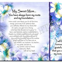 My Sweet Mom… You have always been my roots and my foundation… – (Kukana) Snack Mat/Mouse Pad