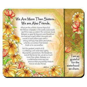 More Than Sisters - Snack Mat