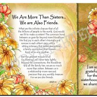 We Are More Than Sisters… We are Also Friends. – (Kukana) Snack Mat/Mouse Pad