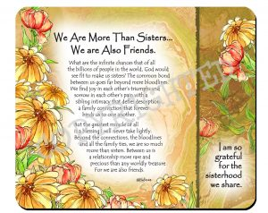 More Than Sisters - Snack Mat - Hi-RES