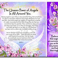 The Unseen Power of Angels Is All Around You – (Kukana) Snack Mat/Mouse Pad