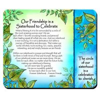 Our Friendship is a Sisterhood to Celebrate – (Kukana) Snack Mat/Mouse Pad