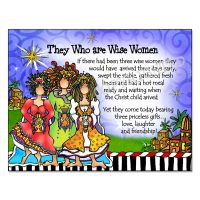They Who are Wise Women – (Christmas) Note Cards -story on front