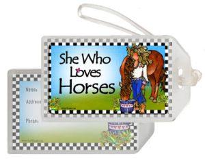 Horses - bag tag