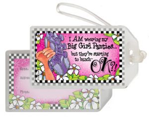 Big Girl Panties - bag tag