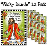 """This Christmas Let's All Remember the True Reason for the Season (12 Pack) – Christmas """"Wacky Bundle"""" Greeting Cards"""