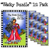 """The First Noel… the very first night (12 Pack) – Christmas """"Wacky Bundle"""" Greeting Cards"""