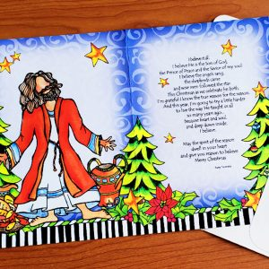 Angels sang and shepherds came - chritmas greeting card - inside