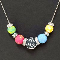 Multi-Colored – Clay Bead Necklace – (Last One)