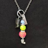 Stacked Multi-Colored – Clay Bead Necklace – (LAST ONE)
