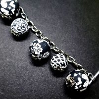 Black & White – Clay Bead Bracelet – (LAST ONE)