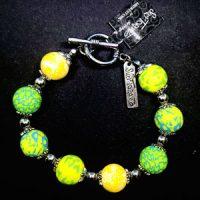Green & Yellow – Clay Bead Bracelet – (LAST ONE)