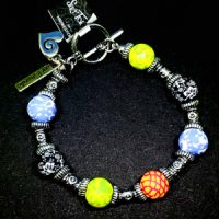 Blue, Green & Orange – Clay Bead Bracelet – (Last One)