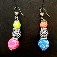 Multi-Colored – Clay Bead Earrings – (Last One)