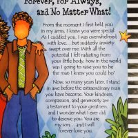 I Love You, My Son… Forever, for Always, and No Matter What! – (9″x12″) Print with Envelope