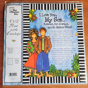 My Son Forever for Always - Print with envelope