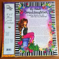 My Sweet Granddaughter. I really think you are over-the-top amazing! – (9″x12″) Print with Envelope