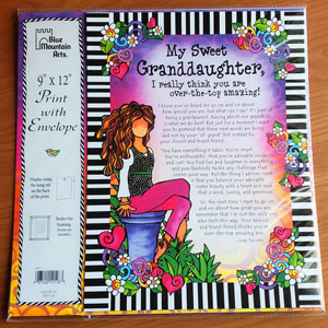 Granddaughter - Print with envelope