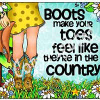 Boots make your toes feel like they're in the country – (TingleBoots) Mouse Pad