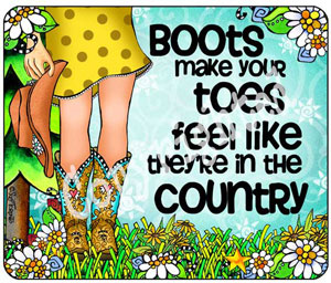 country toes mouse pad