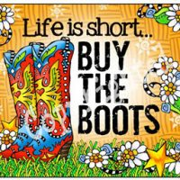 Life is short… BUY THE BOOTS – (TingleBoots) Mouse Pad