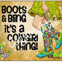 Boots & Bling it's a Cowgirl thing! – (TingleBoots) Mouse Pad